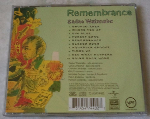 cd original sadao watanabe remembranca