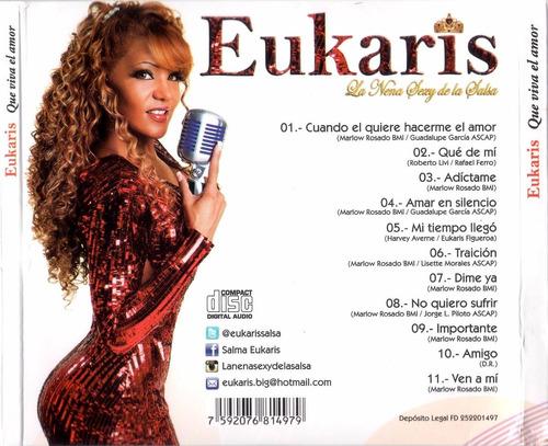 cd original salsa eukaris la nena sexy que viva el amor