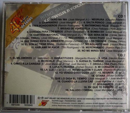 cd original salsa jose mangual jr. 40 exitos cd doble