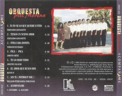cd original salsa orquesta piel morena acompañame