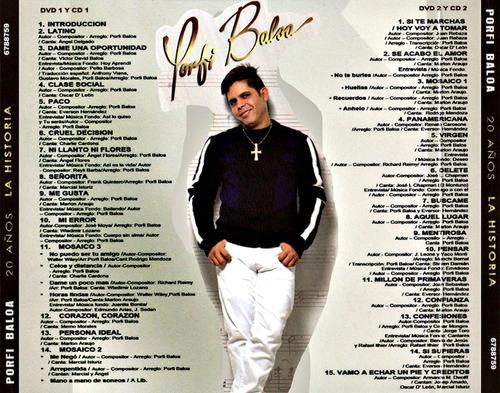 cd original salsa porfi baloa 20 años la historia en vivo