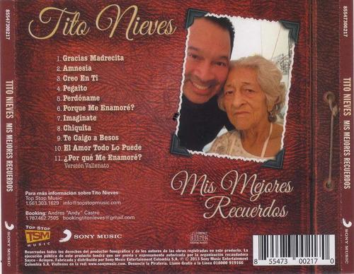 cd original salsa tito nieves mis mejores recuerdos