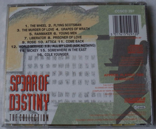 cd original spear of destiny the collection