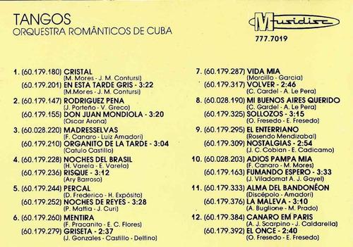 cd  orquestra romanticos de cuba - tangos  - 337b240
