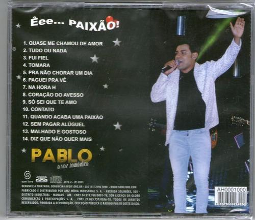 cd - pablo - a voz romantica - êee... paixão! - lacrado