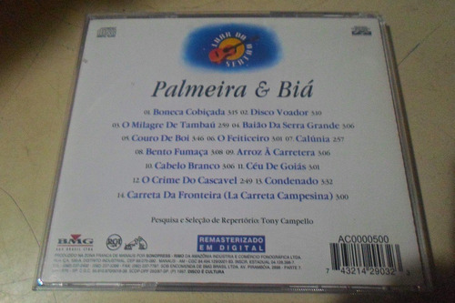 cd palmeira e biá - luar do sertão