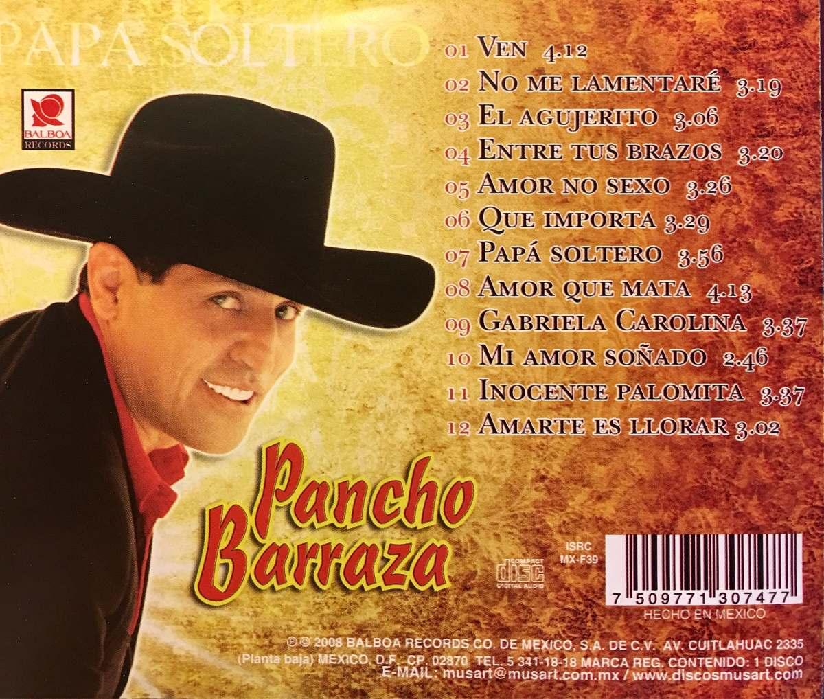 Cd Pancho Barraza Papa Soltero - $ 689.99 en Mercado Libre
