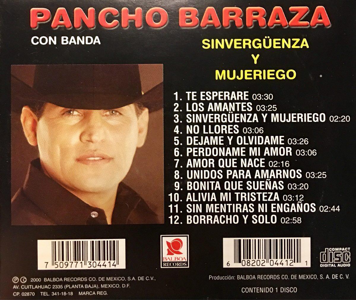 Cd Pancho Barraza Sinverguenza Y Mujeriego - $ 689.99 en Mercado Libre