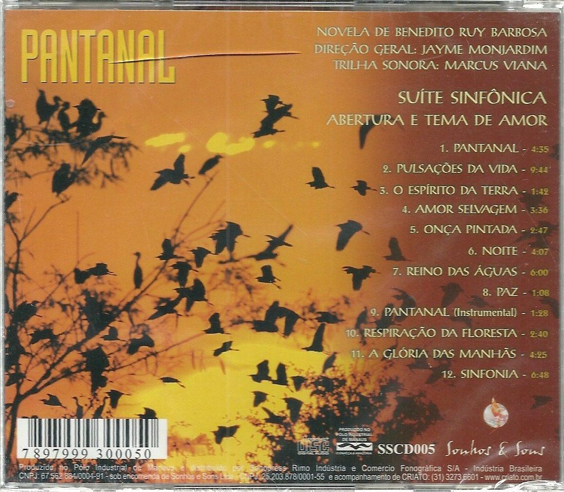 cd trilha sonora novela pantanal