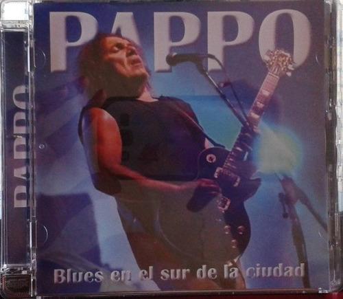 cd  - pappo - blues en el sur de la ciudad - rock argentino