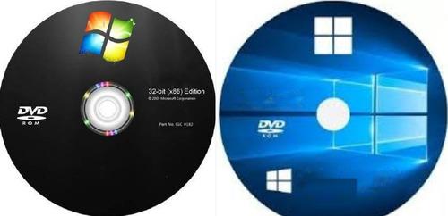 cd para instalação wind©ws 7 + 10 + drive e office