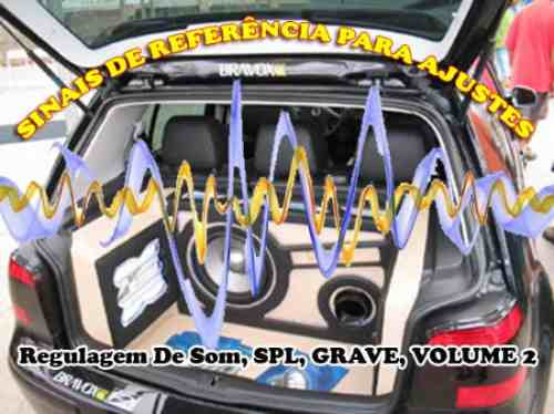 cd para teste e regulagem de som, spl, grave, volume 2