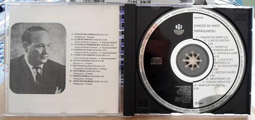 cd paraguassu - canções de amor - 1970 - impecável - raro