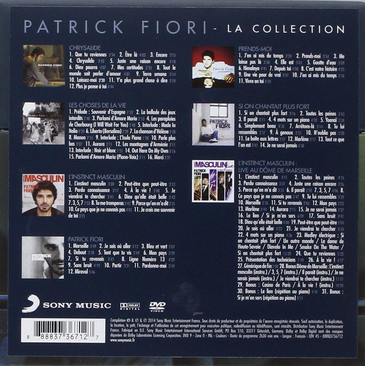 Cd Patrick Fiori La Collection 2014 France Import