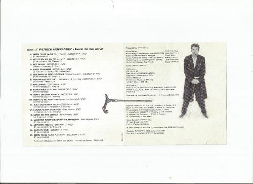 cd patrick hernandez - best of (usado/otimo)
