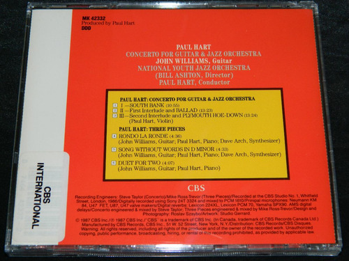 cd paul hart john williams concerto for guitar