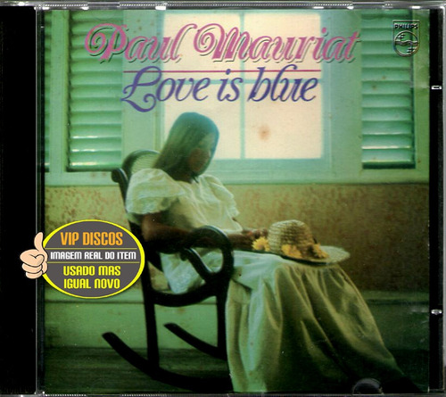 cd paul mauriat love is blue importado - raro