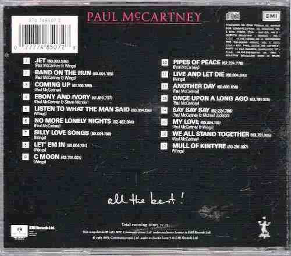 72 Paul Mccartney All The Best