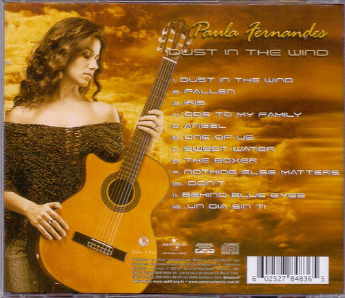 cd paula fernanda - dust in the wind - novo***