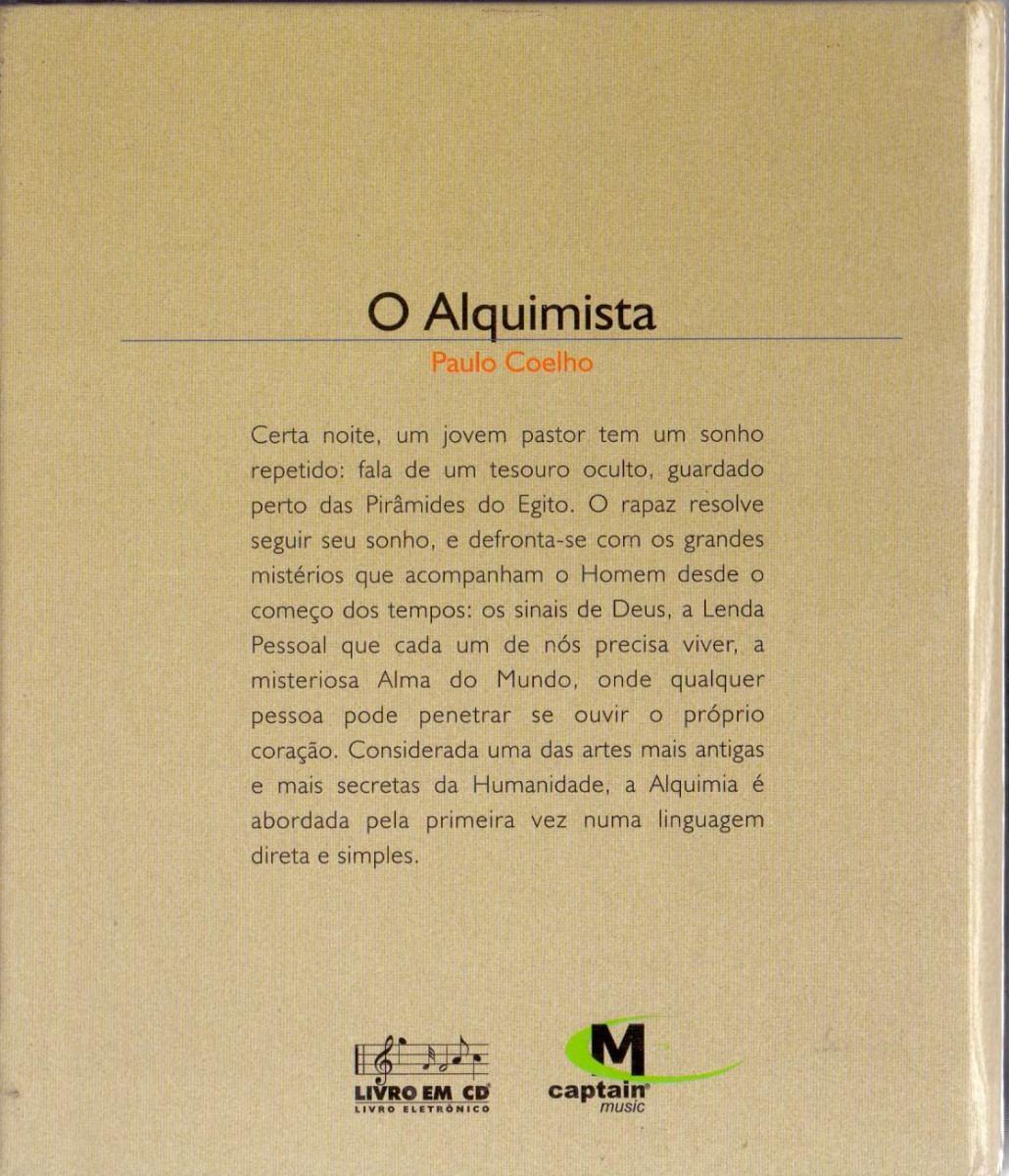 Cd Paulo Coelho - Livro O Alquimista - Novo*** - R$ 70,00