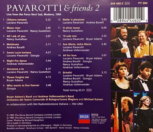 cd pavarotti and friends 2 adams bocelli gustafson importado