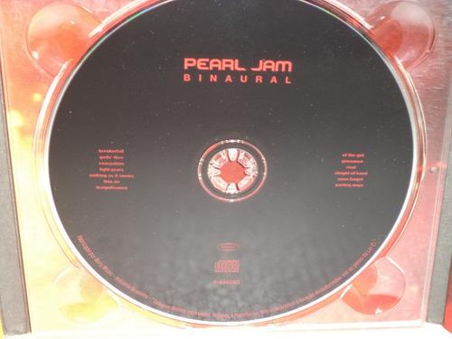 cd pearl jam binaural (original) capa digipack + encarte