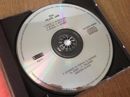 cd - pearl jam - ten