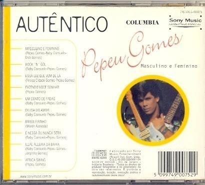 cd pepeu gomes - masculino e feminino - 1983 - autêntico