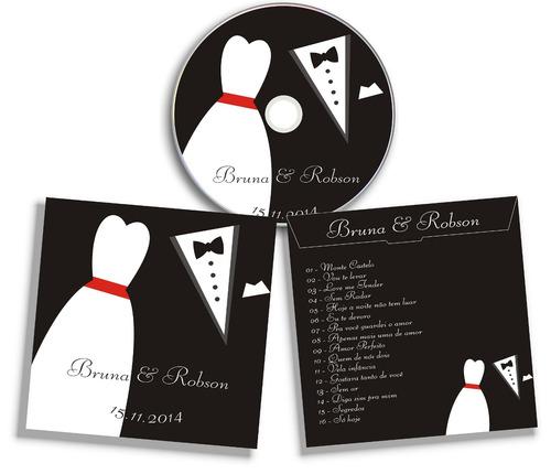 cd personalizado qualquer tema + envelope
