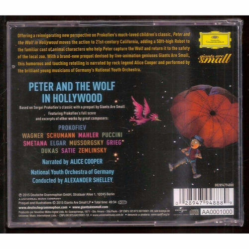 cd peter and the wolf in hollywood - by alice cooper
