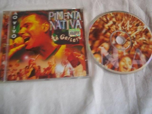 cd - pimenta nativa - ao vivo  - rock pop