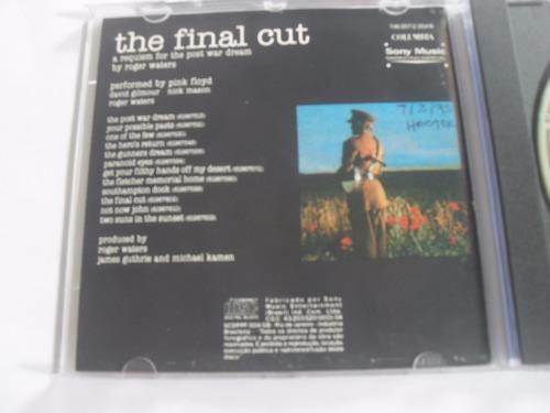 cd - pink floyd the final cut - importado