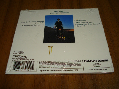 cd pink floyd / wish you were here (sellado) made in usa