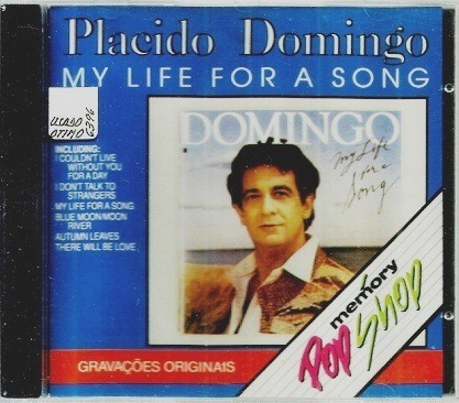 cd/ placido domingo = my life for a song