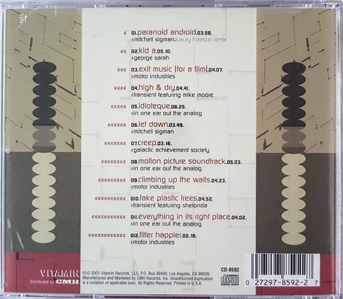 cd plastic mutations - the electronic tribute to radiohead