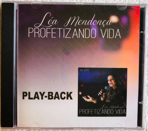 cd play-back léa mendonça profetizando vida lacrado original
