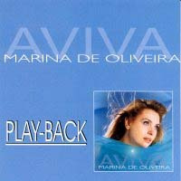 cd play-back marina de oliveira - aviva * lacrado * raridade