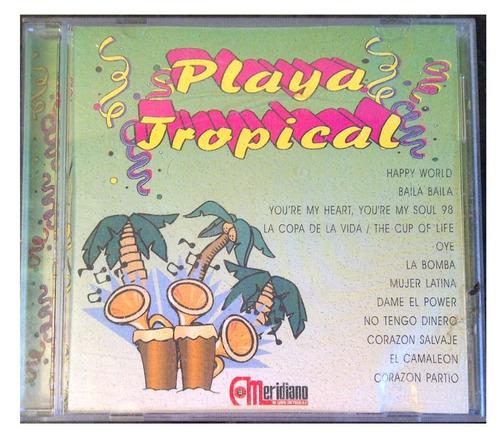 cd - playa tropical - meridiano - original