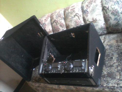 cd player gemini cdx2400 con rack para dj discplay