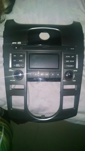 cd player original kia cerato + moldura ar digital