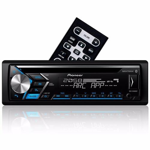 cd player pioneer deh-s4080bt bluetooth mixtrax usb frontal