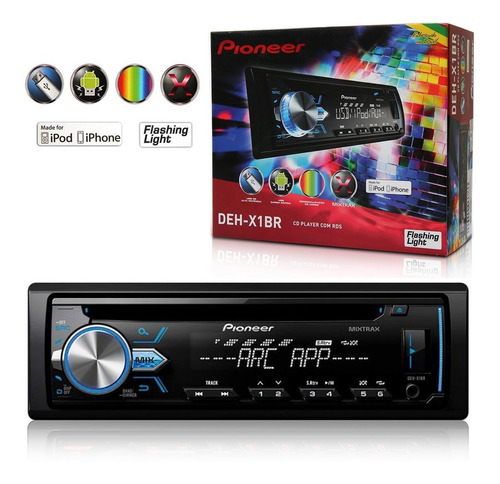 cd player pioneer deh-x1br 1 din mixtrax usb mp3