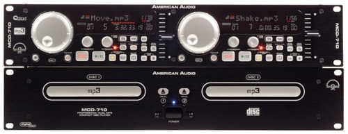 cd player profecional american audio  mcd 710. original