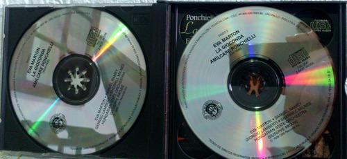 cd ponchielli - la gioconda - eva marton/samuel ramey- 3 cds