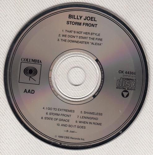 cd pop rock billy joel storm front edicion importada usa 89