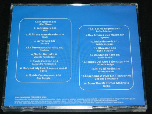 cd promo sony 3 shakira reik jaguares julieta venegas y mas