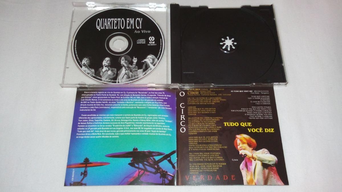 Cd Quarteto Em Cy Ao Vivo Rio De Janeiro - Cid 2001 Sucessos