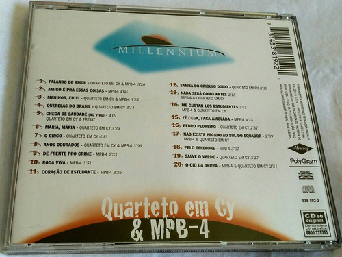 cd quarteto em cy & mpb - 4