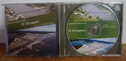 cd quarteto impressons o desague - música de thomas saboga