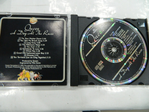 cd - queen - a day at the races - nacional